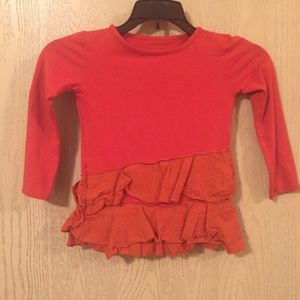 Persnickety L/S Ruffle Tee | Size 4 | Girls | EUC